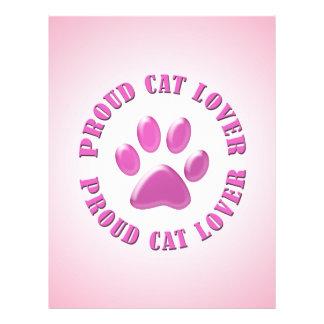 """Proud Cat Lover 8.5"""" X 11"""" Flyer"""