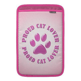 Proud Cat Lover MacBook Sleeve