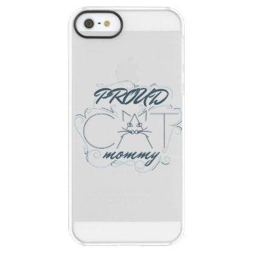 Proud cat mommy design permafrost iPhone SE/5/5s case