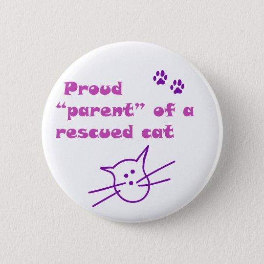 proud cat pinback button