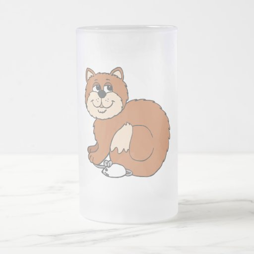 Proud Cat sitting on Mouse Coffee Mugs