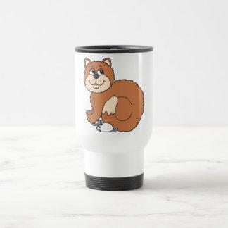 Proud Cat sitting on Mouse Travel Mug