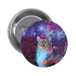 Proud Cat With Space Background Button
