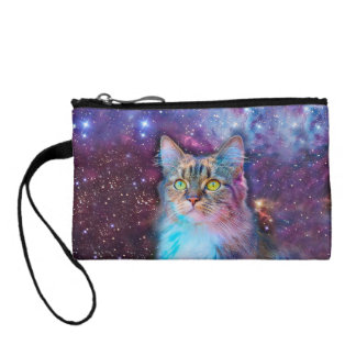 Proud Cat With Space Background Change Purse