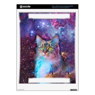 Proud Cat With Space Background Skin For Xbox 360
