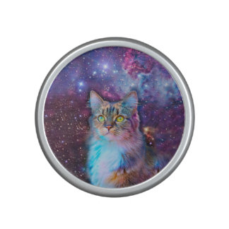 Proud Cat With Space Background Speaker