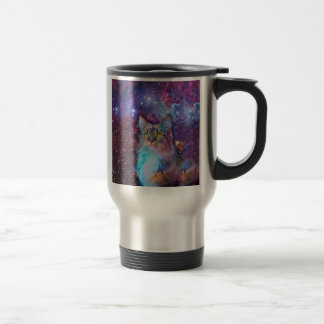 Proud Cat With Space Background Travel Mug