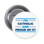 Proud Catholic 2 Inch Round Button