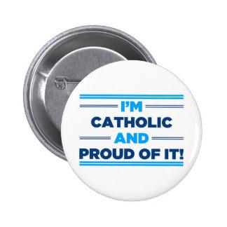 Proud Catholic Pinback Button