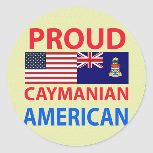Proud Caymanian American Round Stickers