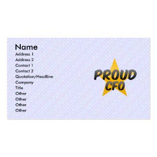Proud Cfo Business Cards