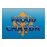 Proud Chavda, Chavda pride Greeting Card