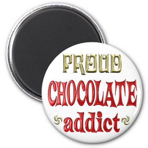 Proud Chcolate Addict Fridge Magnet