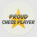 Proud Chess Player Round Stickers