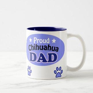 Proud Chihuahua Dad Two-Tone Coffee Mug