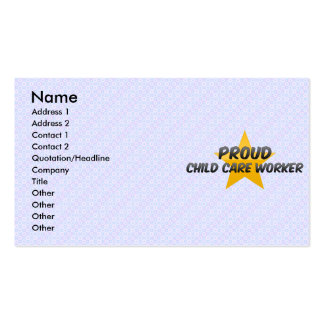 Proud Child Care Worker Business Cards