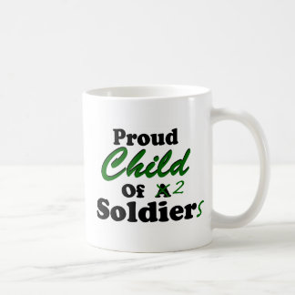 Proud Child Of 2 Soldiers Coffee Mugs