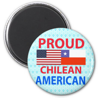 Proud Chilean American 2 Inch Round Magnet