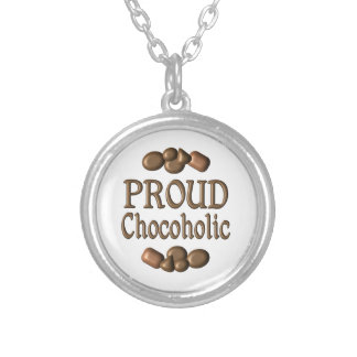 Proud Chocoholic Silver Plated Necklace