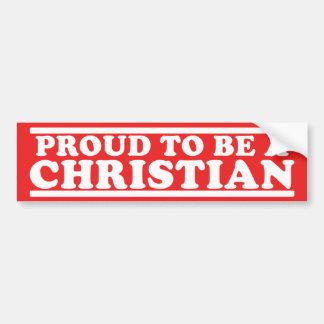Proud Christian Car Bumper Sticker