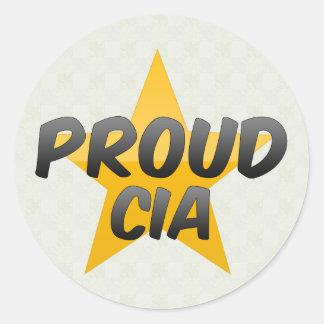 Proud Cia Round Sticker