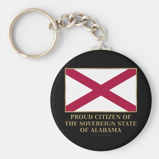 Proud Citizen of  Alabama Key Chain