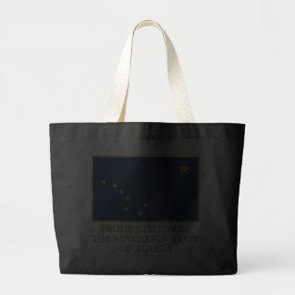 Proud Citizen of Alaska Canvas Bags