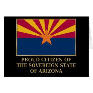 Proud Citizen of  Arizona Greeting Card