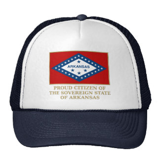 Proud Citizen of  Arkansas Trucker Hats