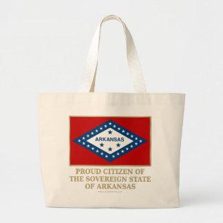Proud Citizen of  Arkansas Jumbo Tote Bag