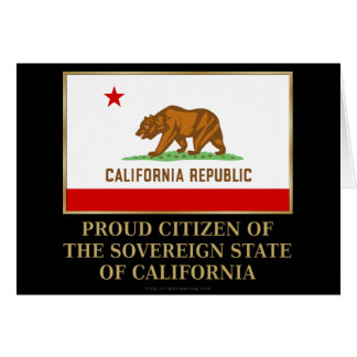 Proud Citizen of  California Card