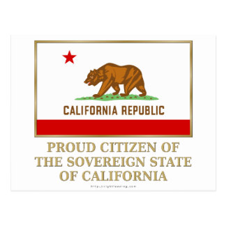 Proud Citizen of  California Postcard