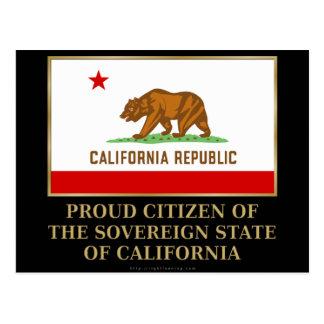 Proud Citizen of  California Postcard