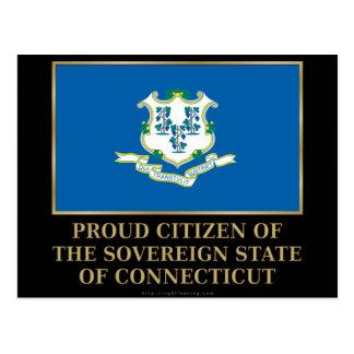 Proud Citizen of  Connecticut Postcard