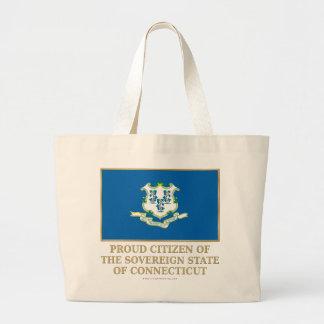 Proud Citizen of  Connecticut Tote Bags