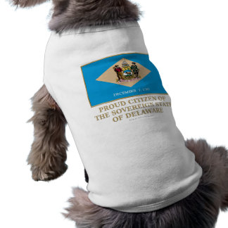 Proud Citizen of  Delaware Dog Clothes