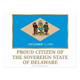 Proud Citizen of  Delaware Postcard