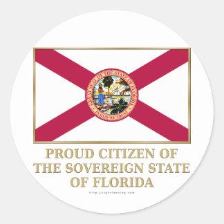 Proud Citizen of  Florida Classic Round Sticker