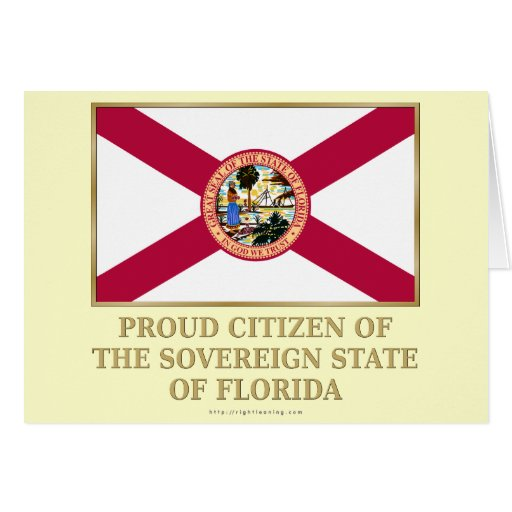 Proud Citizen of  Florida Greeting Card
