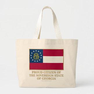 Proud Citizen of  Georgia Canvas Bags