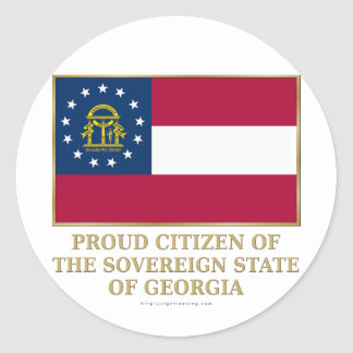 Proud Citizen of  Georgia Classic Round Sticker