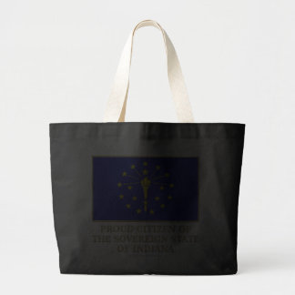 Proud Citizen of  Indiana Canvas Bags