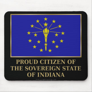 Proud Citizen of  Indiana Mouse Pad