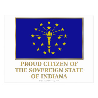 Proud Citizen of  Indiana Postcard