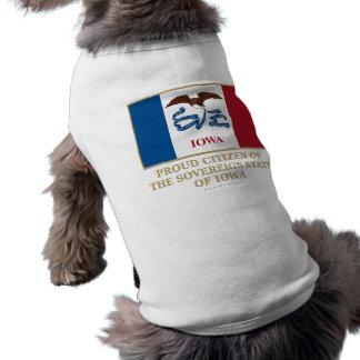Proud Citizen of  Iowa Dog T Shirt
