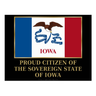 Proud Citizen of  Iowa Postcards