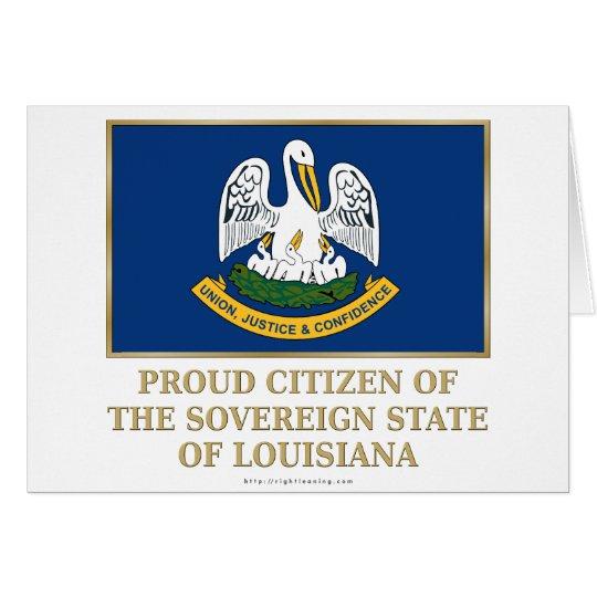 Proud Citizen of  Louisiana Card