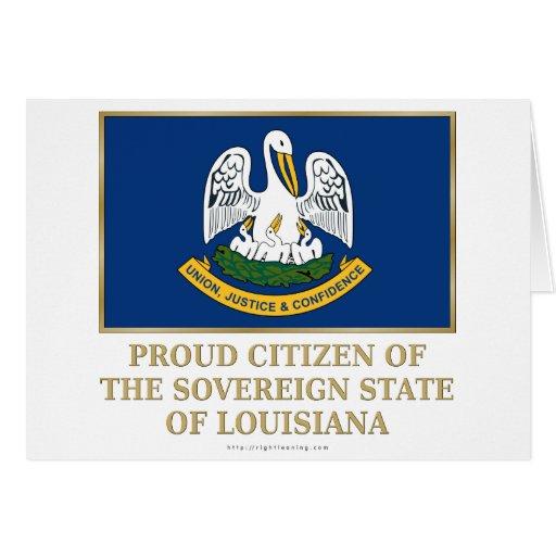 Proud Citizen of  Louisiana Cards