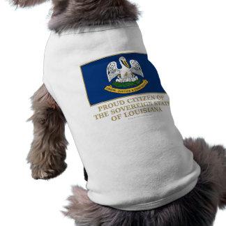 Proud Citizen of  Louisiana Dog Tshirt