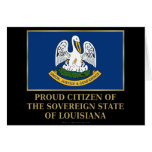 Proud Citizen of  Louisiana Greeting Card
